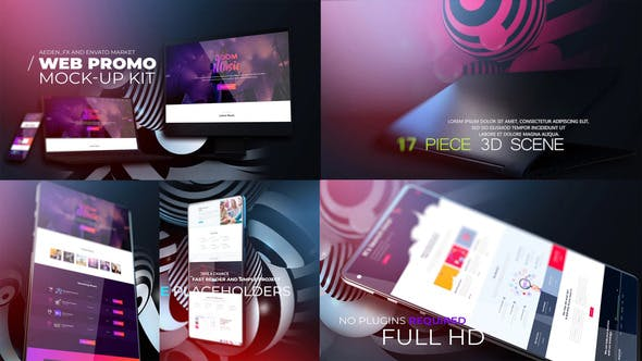 Web Promo And Mockup Device Kit V01