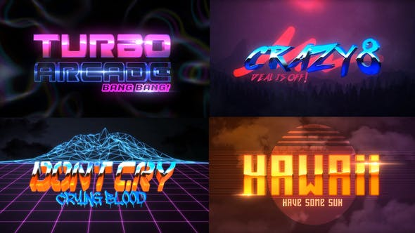 80S Lot de 4 Logo Intro