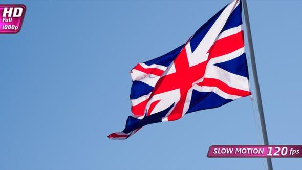 British Flag And Blue Sky