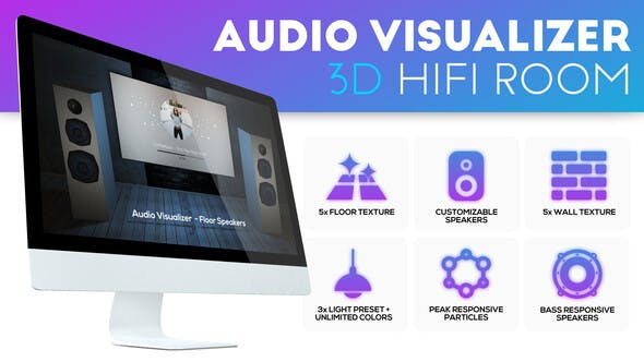 Thumbnail for Audio Visualizer 3D Music Room