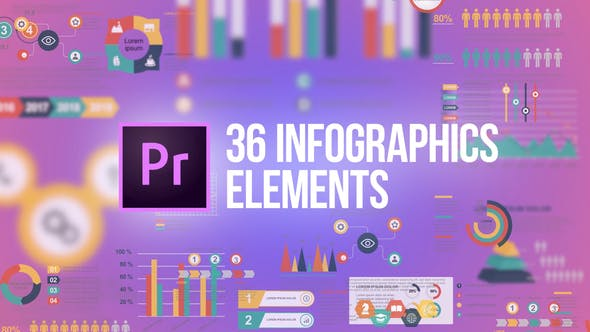 Infographics - 36 Elements (MOGRT)