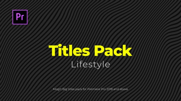Thumbnail for Lifestyle Titles Pack