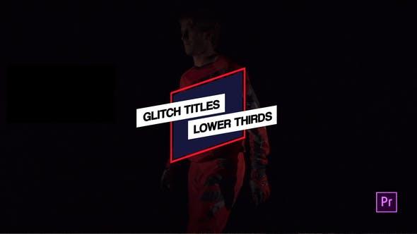 Glitch Titles & Lower Thirds // MOGRT