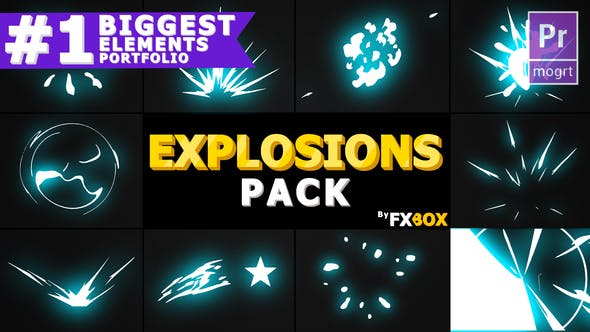 Thumbnail for Cartoon Explosion Elements | Premiere Pro MOGRT