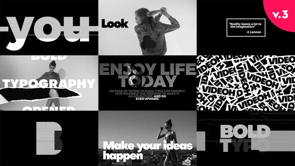 Thumbnail for Bold Typo Openers Pack