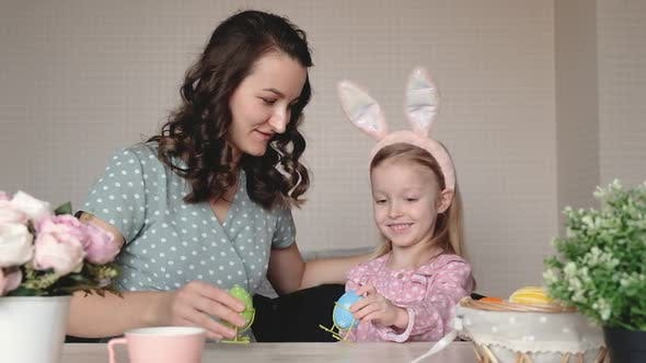 Easter Family Holiday and Children Concept