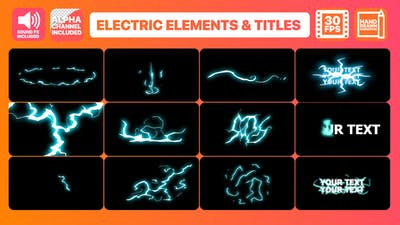 Flash FX Electric Elements And Titles   FCPX