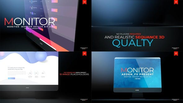 Thumbnail for Monitor Mockup Presentation 01