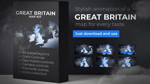 United Kingdom of Great Britain Map - UK Map - Britain Map