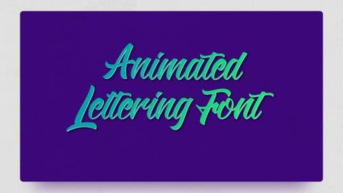 Animated Lettering Font