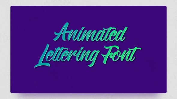 Thumbnail for Animated Lettering Font
