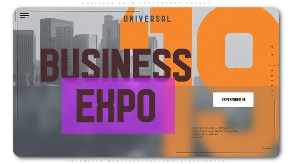Thumbnail for Business Expo Typography Opener