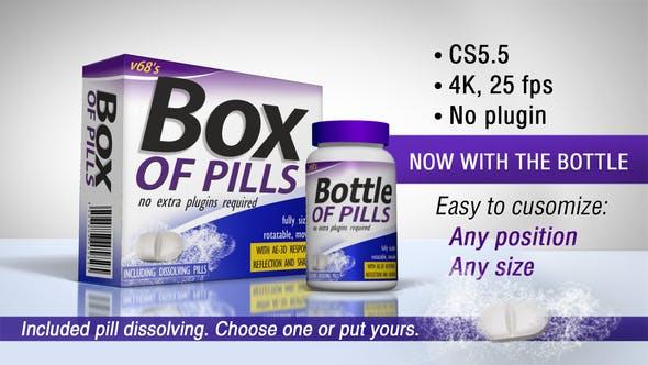 3D Medicine Box And Bottle