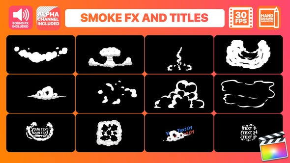 Thumbnail for Hand Drawn Smoke FX And Titles | FCPX