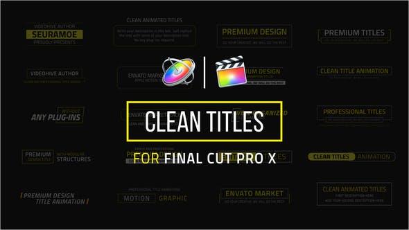 Thumbnail for Títulos limpios | FCPX o Apple Motion