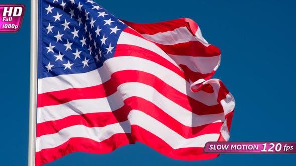 Thumbnail for US Flag Against The Sky