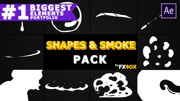 Thumbnail for 2D Shapes And Smoke | After Effects