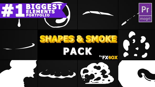 Thumbnail for 2D Shapes And Smoke | Premiere Pro MOGRT