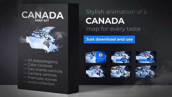 Thumbnail for Canada Map - Canadian Map Kit