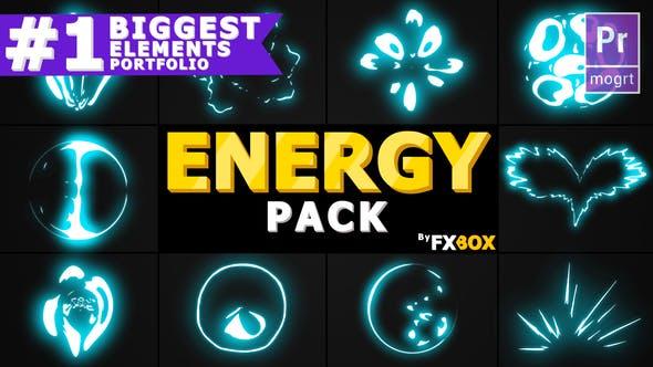 Thumbnail for Energy Explosion Elements   Premiere Pro MOGRT
