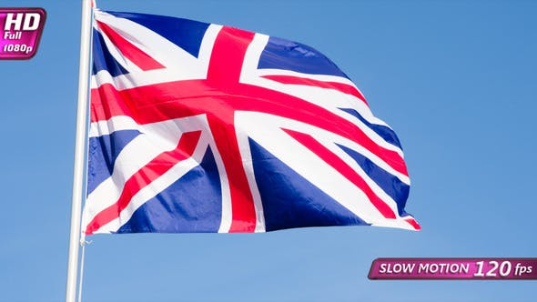 Thumbnail for Flag Of Britain Is Slowly Flying