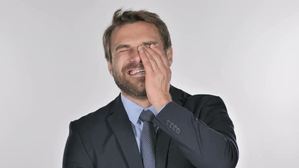 Thumbnail for Portrait of Laughing Businessman Looking at Camera