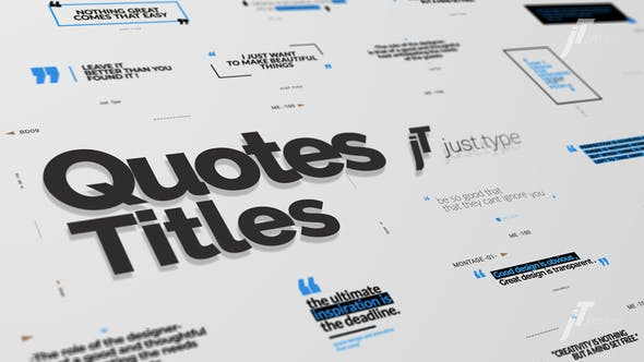 Thumbnail for Just Type | Quote Titles