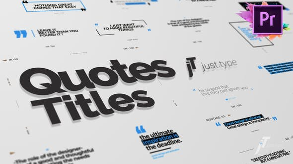 Thumbnail for Just Type | Quote Titles For Premiere Pro MOGRT