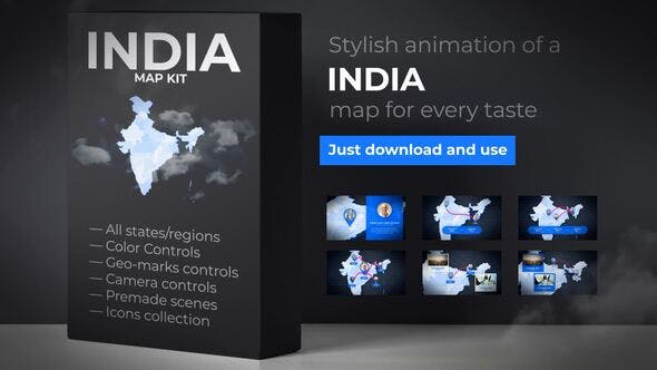 India Map - Republic of India Map Kit - product preview 0