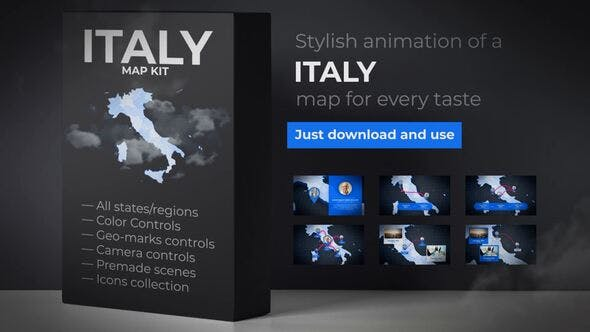 Thumbnail for Italy Map - Italian Map Kit
