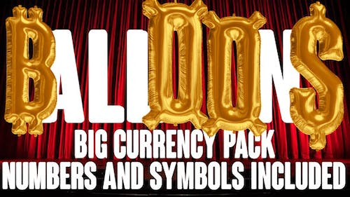 Foil Balloons Currency & Numbers