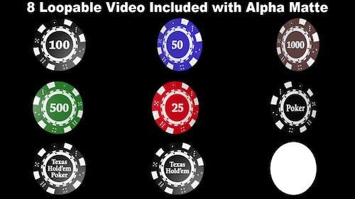 Pokerchips Megapack mit Alpha Matte