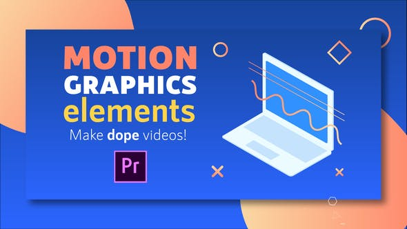 Thumbnail for Motion Graphics Elements Pack | MOGRT for Premiere Pro