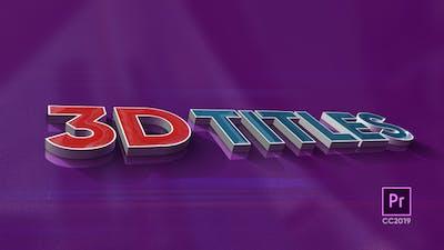 3D Titles