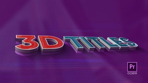 Thumbnail for 3D Titles