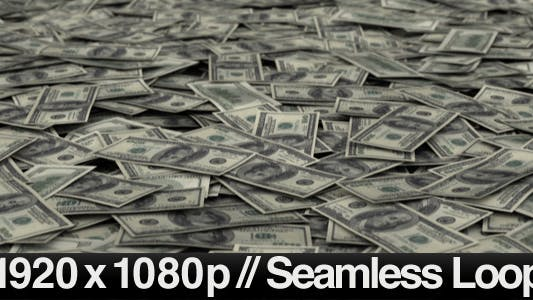 Thumbnail for Money Pile $100 Dollar Bills Loop