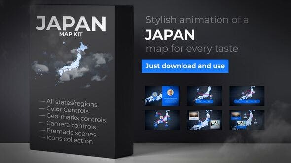 Thumbnail for Japan Map Animation - Japanese Map Kit