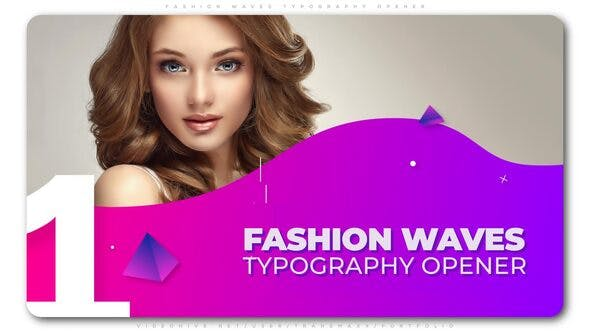 Thumbnail for Fashion Waves Typography Opener
