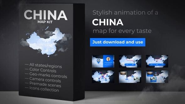 Thumbnail for China Map - People's Republic of China Map Kit