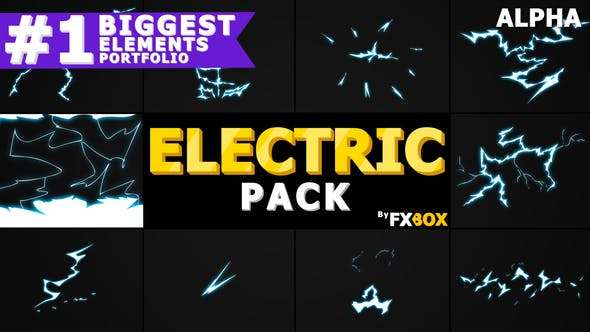 Cover Image for Flash FX  ELECTRIC Elements And Transitions | Motion Graphics Pack