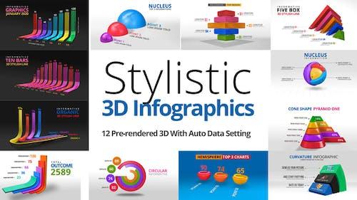 Stylistic 3D Infographics