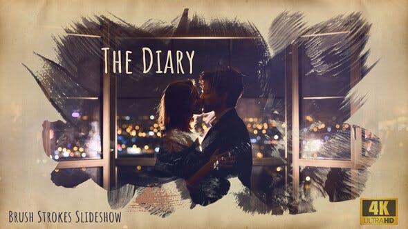 The Diary – Brush Strokes 4K Slideshow