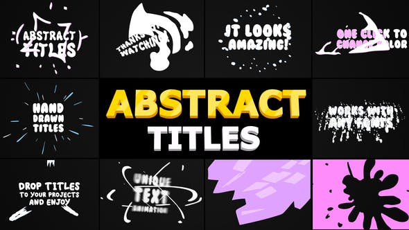 Thumbnail for Abstract Cartoon Titles | Premiere Pro MOGRT