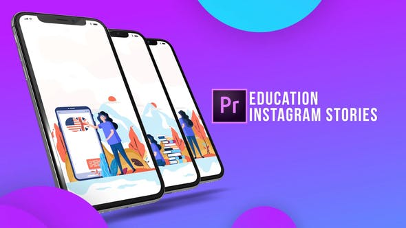 Thumbnail for Instagram Stories - Education (MOGRT)