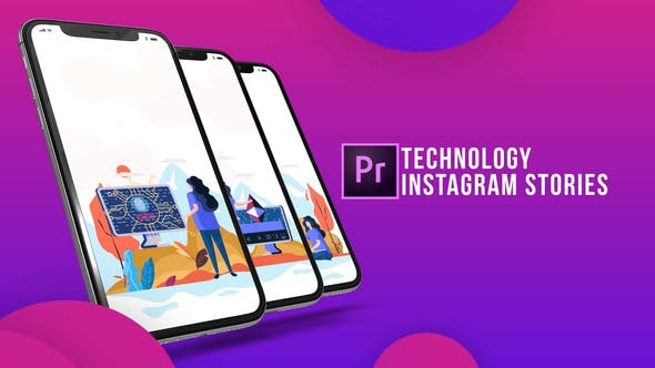 Instagram Stories - Technology (MOGRT)