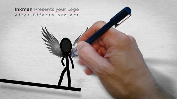 Thumbnail for Inkman presents your logo (AE project)