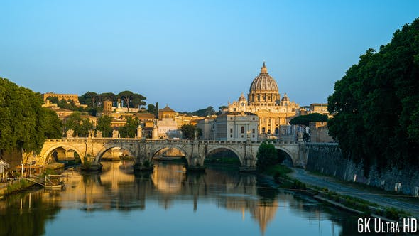 Thumbnail for 6K Time Lapse of the Sunrise at the Vatican Cathedral