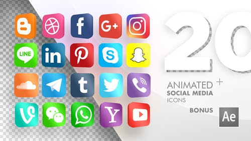 20 Animated Social Media Icons