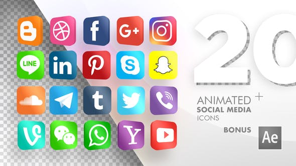 20 Animated Social Media Icons