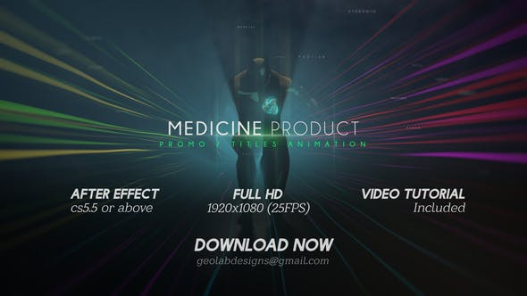 Thumbnail for Medicine Product Promo / Titles Animations / Human Titles